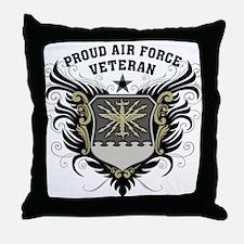 Proud Air Force Veteran Throw Pillow