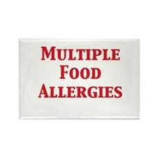 Cool Food allergy Rectangle Magnet (10 pack)