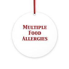 Unique Allergic Ornament (Round)