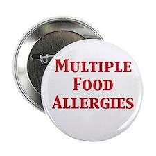 """Unique Allergic to eggs 2.25"""" Button"""