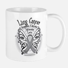 Lung Cancer Butterfly 3 Mug