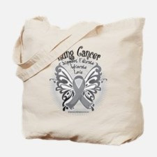 Lung Cancer Butterfly 3 Tote Bag