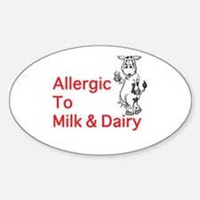 Cute Allergic to dairy Decal