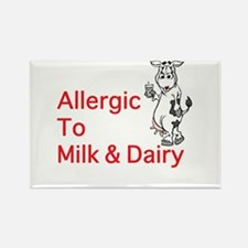 Cute Kids milk allergy alert Rectangle Magnet