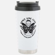 Lung Cancer Butterfly Tribal Travel Mug