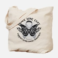 Lung Cancer Butterfly Tribal Tote Bag