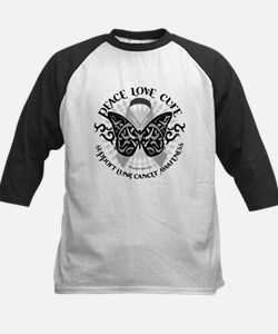 Lung Cancer Butterfly Tribal Tee