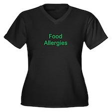 Food Allergies Women's Plus Size V-Neck Dark T-Shi
