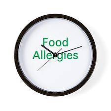 Food Allergies Wall Clock
