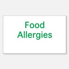 Food Allergies Decal