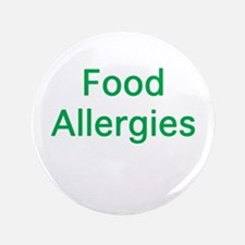 "Food Allergies 3.5"" Button"