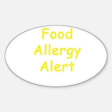 Food Allergy Alert Decal