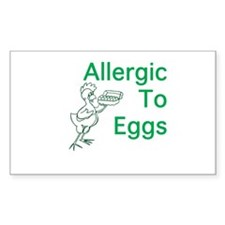 Allergic to Eggs Decal