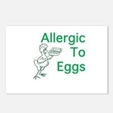 Allergic to Eggs Postcards (Package of 8)