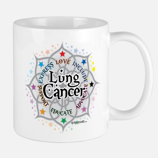 Lung Cancer Lotus Mug