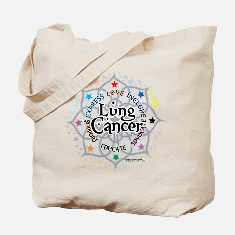 Lung Cancer Lotus Tote Bag