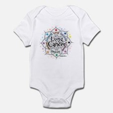 Lung Cancer Lotus Infant Bodysuit