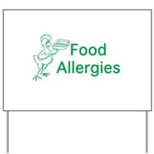 Food Allergies Yard Sign