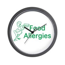 Food Allergies Wall Clock