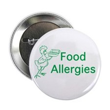 "Food Allergies 2.25"" Button"