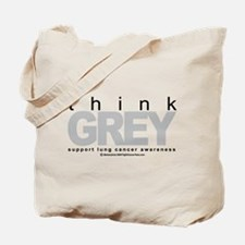 Lung Cancer Think Grey Tote Bag