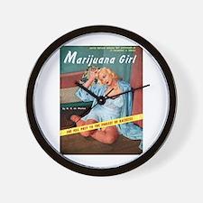 Marijuana Girl! Wall Clock