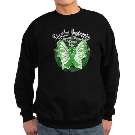 Muscular Dystrophy Butterfly Sweatshirt (dark)