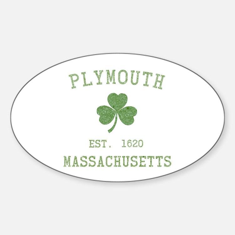 Plymouth MA Sticker (Oval)