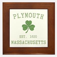 Plymouth MA Framed Tile