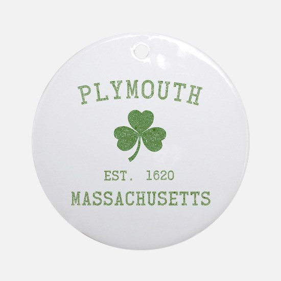 Plymouth MA Ornament (Round)