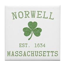 Norwell MA Tile Coaster