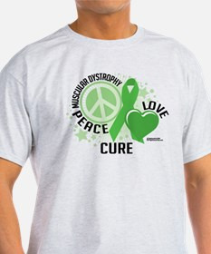 Muscular Dystrophy Peace Love T-Shirt