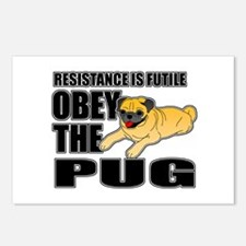 Obey The Pug Postcards (Package of 8)