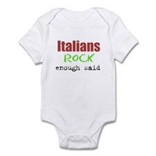 Italians rock Infant Bodysuit