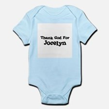 Thank God For Jocelyn Infant Creeper
