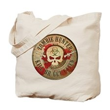Zombie Hunter Distressed Tote Bag