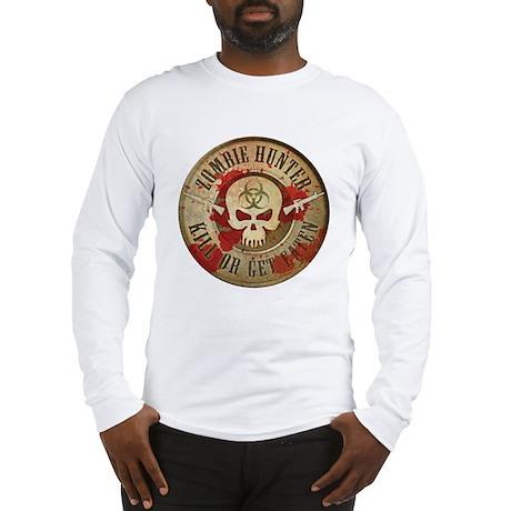Zombie Hunter Distressed Long Sleeve T-Shirt
