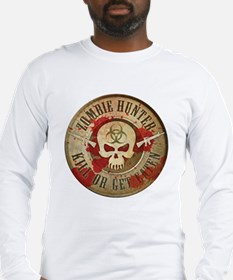Zombie Hunter Distressed Long Sleeve T-Shirt