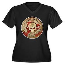 Zombie Hunter Distressed Women's Plus Size V-Neck