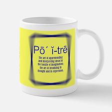Yellow Definition Poetry! Mug