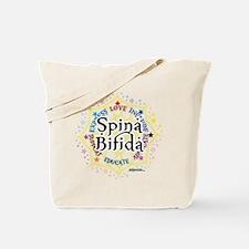 Spina Bifida Lotus Tote Bag
