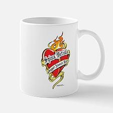 Spina Bifida Tattoo Heart Mug