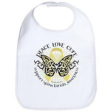 Spina Bifida Butterfly Tribal Bib