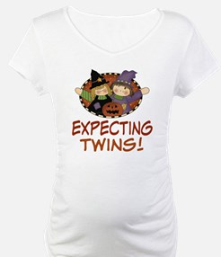 Expecting Twins Halloween Shirt