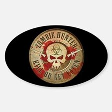 Zombie Hunter Distressed Decal