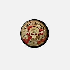 Zombie Hunter Distressed Mini Button