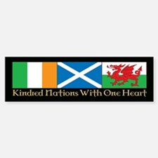 C&P Kindred Flags Bumper Bumper Sticker