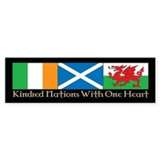 C&P Kindred Flags Bumper Sticker