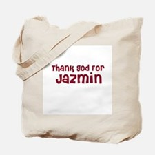 Thank God For Jazmin Tote Bag