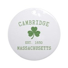 Cambridge MA Ornament (Round)